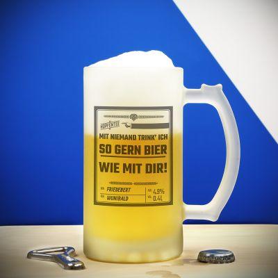 Geburtstagsgeschenk zum 20. - Personalisierbarer Bierkrug