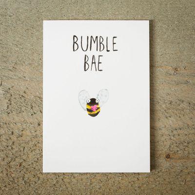 Valentinstag Geschenke für Männer - Grußkarte Hummel mit Herz