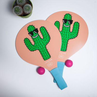 Spiel & Spass - Cooles Kaktus Paddle-Tennis-Set