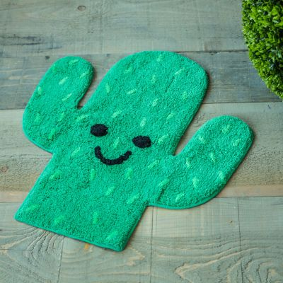 Badezimmer - Kaktus Teppich