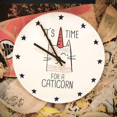 Uhren - Caticorn Wanduhr