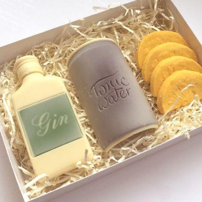 Süßigkeiten - Gin Tonic Notfall-Set aus Schokolade
