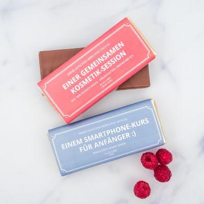 Valentinstag Geschenke für Männer - Personalisierbarer Gutschein mit Schokolade