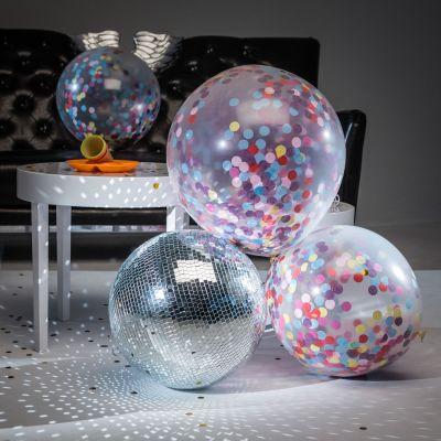 Adventskalender füllen - Riesen-Ballons mit Konfetti