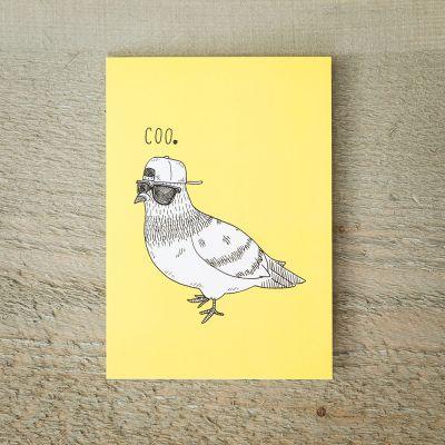 Karten - Grußkarte COOle Taube