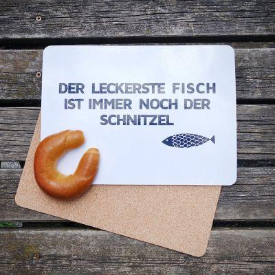 Deko - Tischset Schnitzel-Fisch 4er Set
