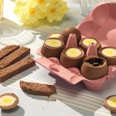 Süßigkeiten - Schoko-Eier zum Dippen