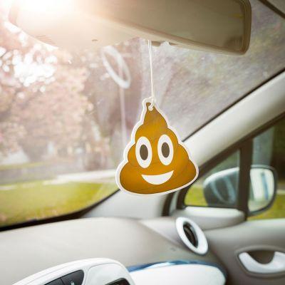Adventskalender füllen - Emoji Poop - Lufterfrischer fürs Auto