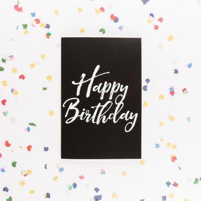 Geburtstagsgeschenk zum 20. - Die endlose Geburtstagskarte mit Glitter