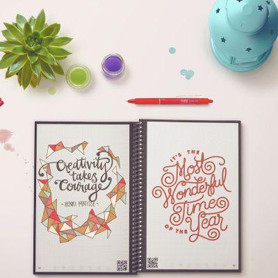 Geburtstagsgeschenke für Männer - Wiederverwendbares Notizbuch Everlast mit Smartphone App