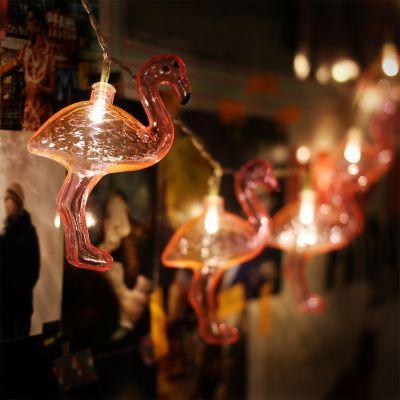 Beleuchtung - Flamingo Lichterkette