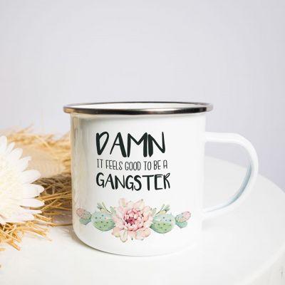 Geschenk für Freundin - Metalltasse Gangster