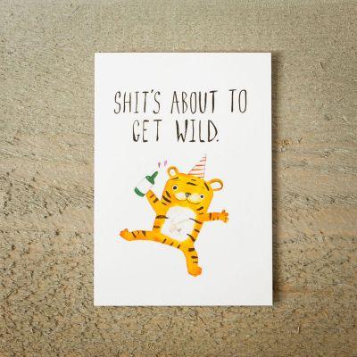 Karten - Grußkarte Partytiger