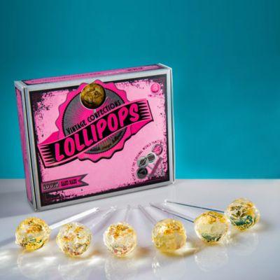 Adventskalender füllen - Goldene Lollipops