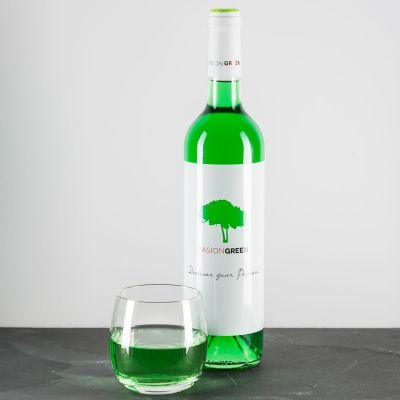Alkohol - Wein in Grün