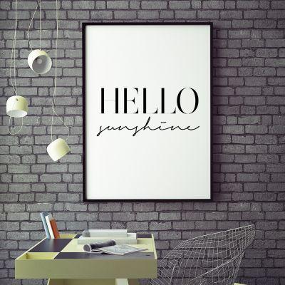 Poster - Poster Hello Sunshine by MottosPrint