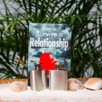 Geschenk für Paare - Beziehungs-Retter Flachmann-Set
