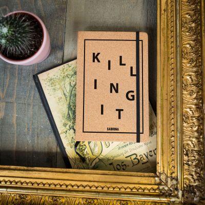 Personalisierte Notizbücher - Personalisierbares Kork Notizbuch - Killing It