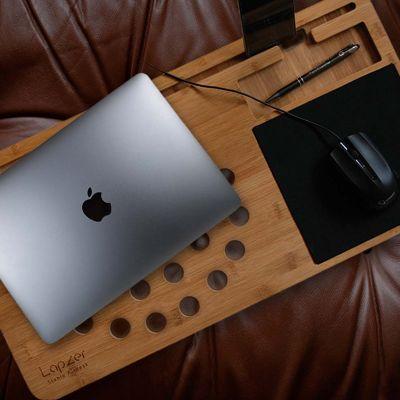 Weihnachtsgeschenke für Mama - Laptop Unterlage aus Holz