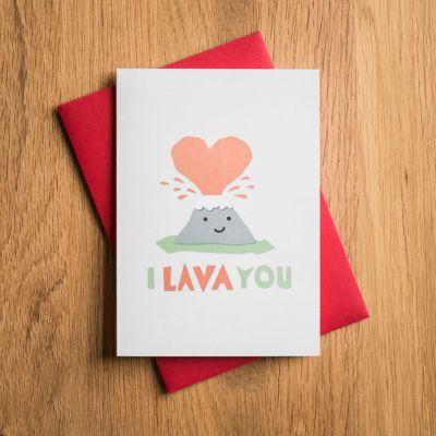 Valentinstag Geschenke für Männer - Valentinstagskarte I Lava You