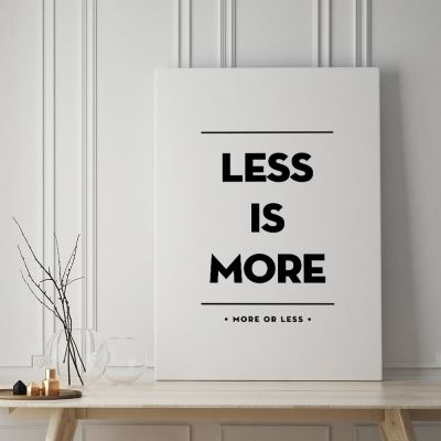 Exklusive Poster - Poster Less Is More by MottosPrint