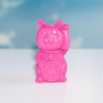 Wichtelgeschenke - Glückskatze Textmarker in Pink