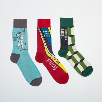 Fashion - Männer-Socken mit markigen Sprüchen