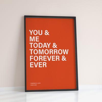 Valentinstag Geschenke für Männer - You + Me + ... - Personalisierbares Poster