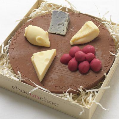 Süßigkeiten - Käseplatte aus Schokolade