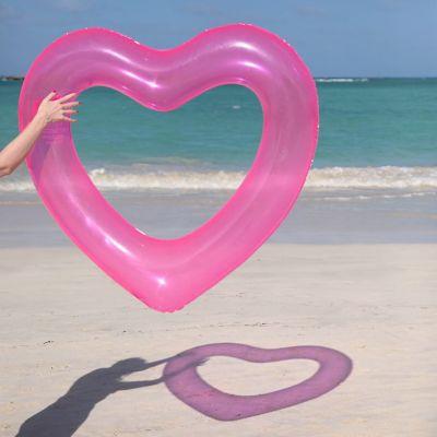 Badezimmer - Herz Schwimmreifen in Pink