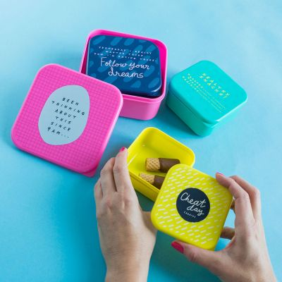Kleine Geschenke - Notes To Self Stapelbare Lunchboxen 4er Set