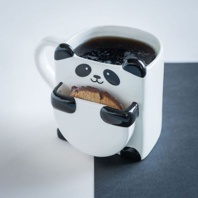 Tassen & Gläser - Panda Tasse mit Keks-Fach