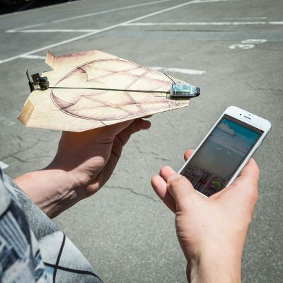 Weihnachtsgeschenke für Männer - PowerUp 3.0 - Smartphone gesteuerter Antrieb für Papierflieger