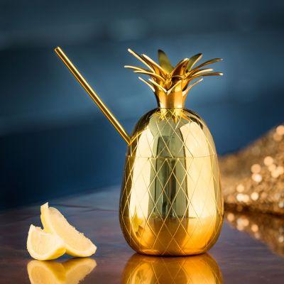 An der Bar - Ananas Cocktailglas aus Metall