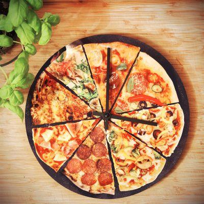 Uhren - Pizza Wanduhr