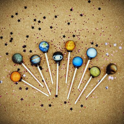 Adventskalender füllen - Galaktische Lollipops
