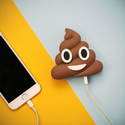 Adventskalender füllen - Emoji Poop Ladegerät für Smartphones