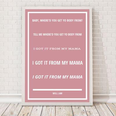 Geschenk für Paare - Songtexte - Personalisierbares Poster