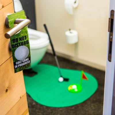 Badezimmer - Das ultimative Golfset für die Toilette