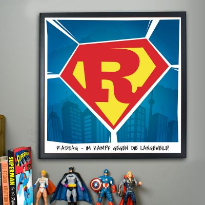 Personalisierbare Poster - Superman - Personalisierbares Poster