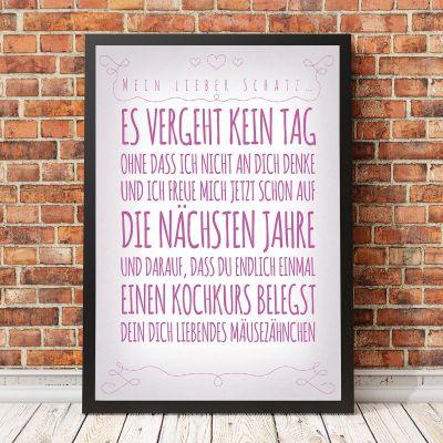 Poster - Personalisierbares Poster für deine Lieben