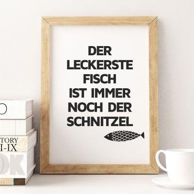 Poster - Schnitzel-Fisch Poster