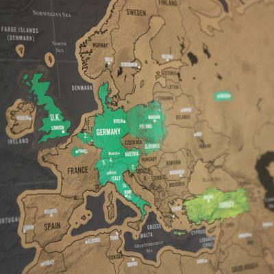 Wohnen - Rubbel-Weltkarte Scratch Map Deluxe