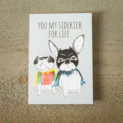 Valentinstag Geschenke für Männer - Grußkarte Superhelden-Schoßhunde