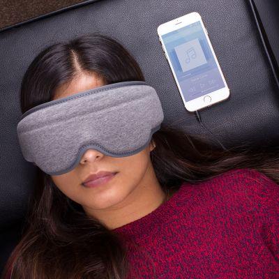Reise Gadgets - Schlafmaske mit integrierten Kopfhörern