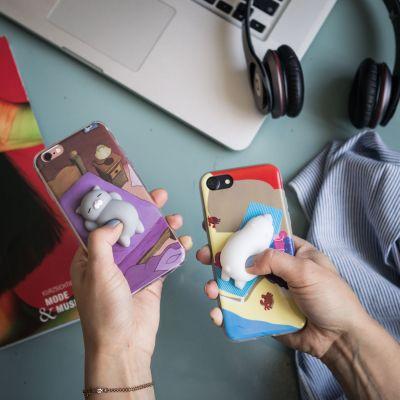 Gadgets - Tierchen zum Drücken mit Hülle fürs iPhone