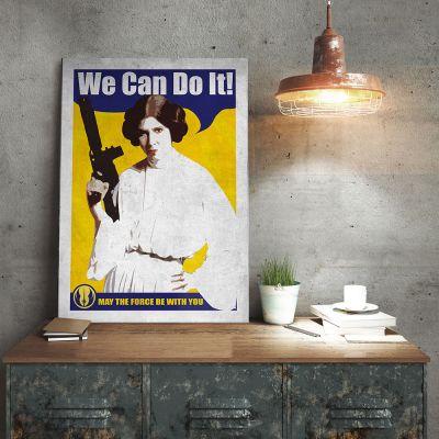 Poster - Star Wars Metallposter - Leia