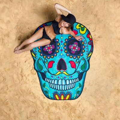 Geburtstagsgeschenk für Freundin - Sugar Skull Strandtuch