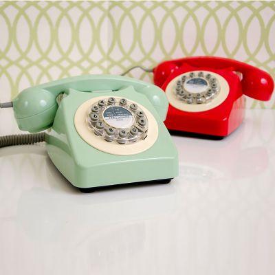 Retrokram - Retro-Telefon in Rot oder Grün