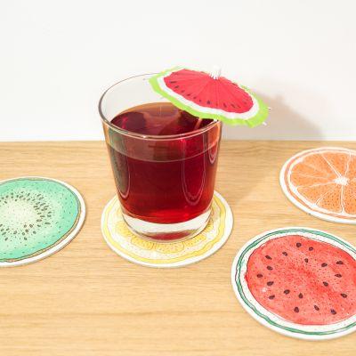 Küche & Grill - Früchte-Untersetzer 4er-Sets